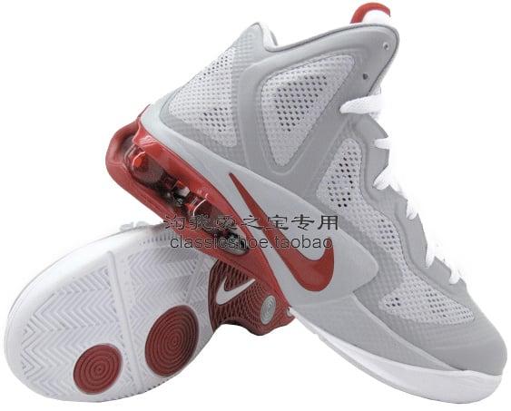 Nike Air Shox Hyperballer Wolf Grey White-Sport Red