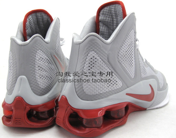 Nike Air Shox Hyperballer Wolf Grey White-Sport Red