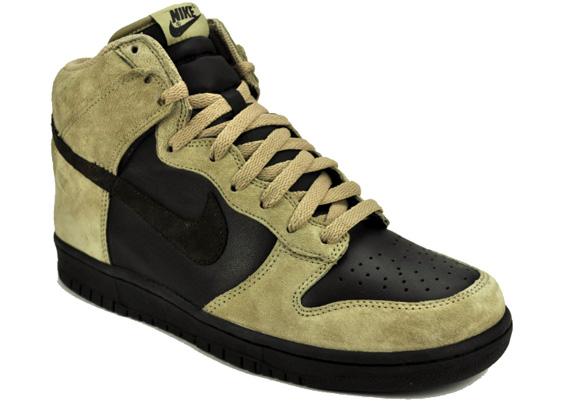 Nike Dunk High Khaki Velvet Brown-Black Fall 2011