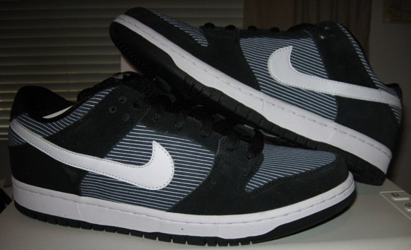 Nike Dunk SB Low Navy Pinstripe Sample