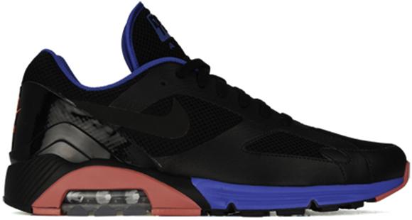 Nike Lunar Air 180 Black Blue Spark Alarming Red