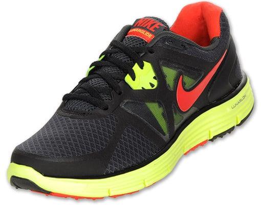 Nike LunarGlide+ 3 Anthracite Challenge Red Black Volt