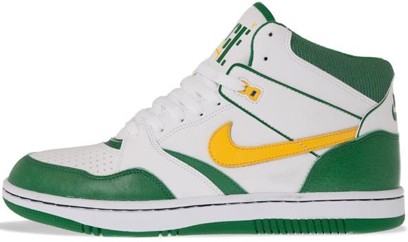 Nike Sky Force 88 Mid White Yellow-Pine Green
