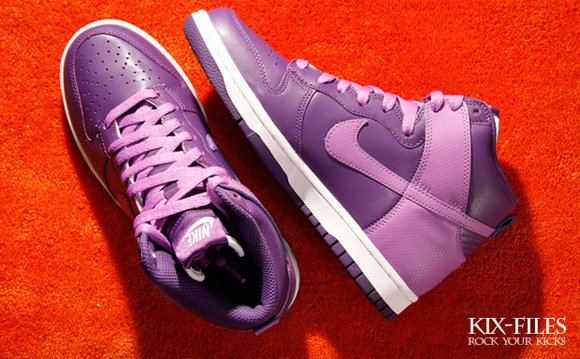 Nike Womens Dunk High Club Purple Bright Violet-White  deb62063ca8a