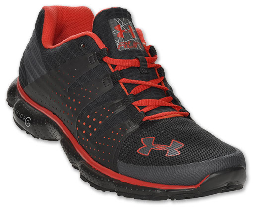 Under Armour Mikro G Impuls Menns Joggesko Svart / Rød wTCh6b
