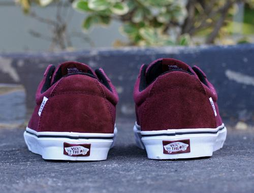 Vans SK8 Low Burgundy White