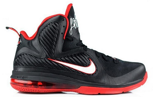Nike LeBron 9 Black/Varsity Red - More Close-Ups