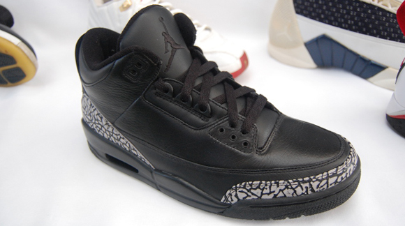 Air Jordan III (3) Black Leather Cement Grey Sample