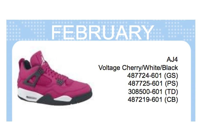 44af959ff3e2d8 Air Jordan IV (4) GS - Voltage Cherry White-Black - Spring Summer ...