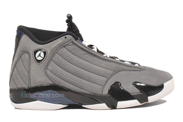 Air Jordan XIV 14 Retro Light Graphite/Midnight Navy-Black