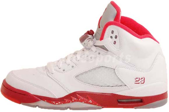 Air Jordan V (5) GS White Legacy Red-Scarlet Fire Available