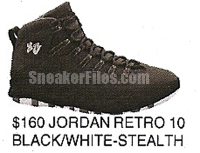 Air Jordan X (10) Retro Black White-Stealth Spring 2012