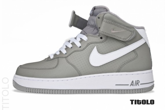 various colors 1e514 864dd Nike Air Force 1 Mid - Gray/White - Available | SneakerFiles