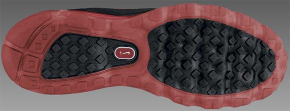 Nike Air Max Ultra 365 Black Metallic Silver-Black-Sport Red