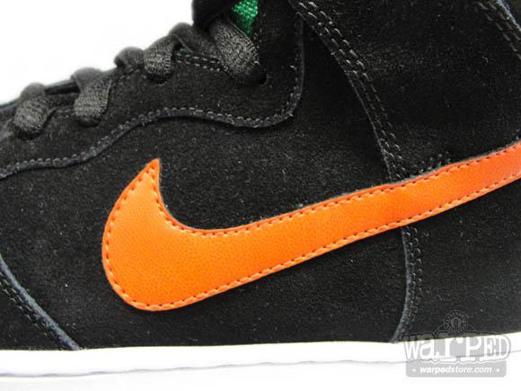 Nike Dunk SB High Jagermeister Black Deer Orange–Hunter Green