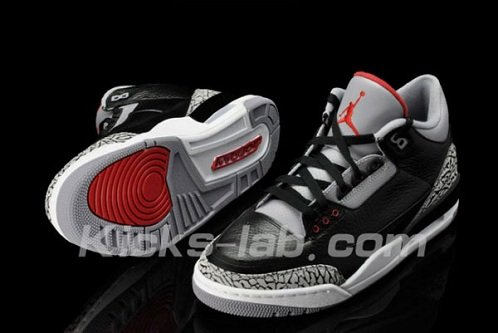 "Air Jordan Retro III (3) ""Black Cement"" - Another Preview"