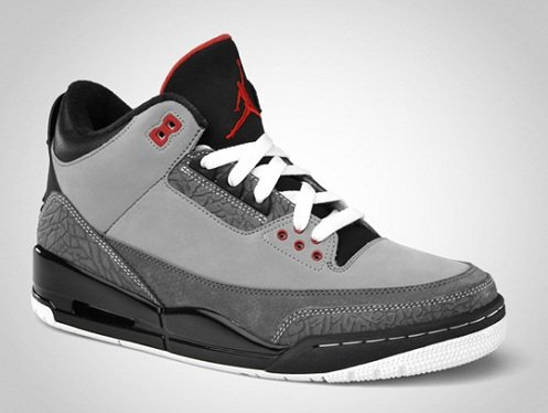 Air Jordan Retro III (3) StealthVarsity Red Light Graphite