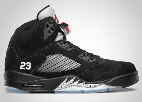 Air Jordan Retro V (5) Black/Varsity Red-Metallic Silver - Official Jordan Brand Image