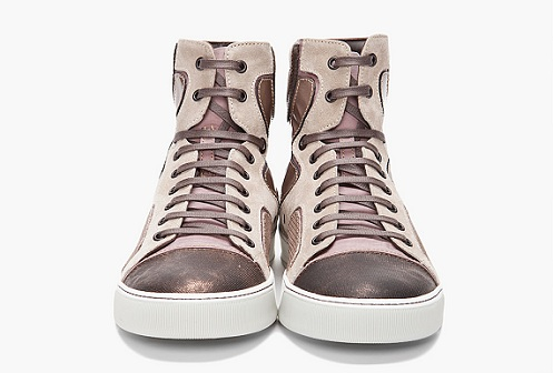 Lanvin High-Top Sneaker - Bronze