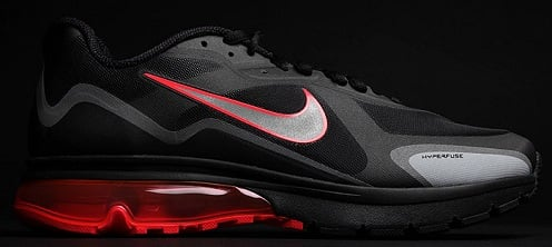 Nike Air Max Alpha 2011 - Black/Sport Red-Metallic Silver