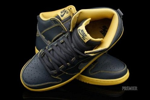 Nike SB Dunk High Anthracite/Gold - New Images