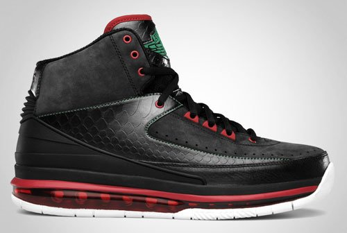 Release Reminder: Air Jordan 2.0 Black/Classic Green-Varsity Red-White