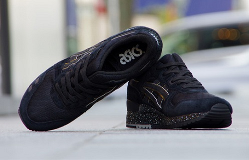 asics gel lyte 3 black tan on feet