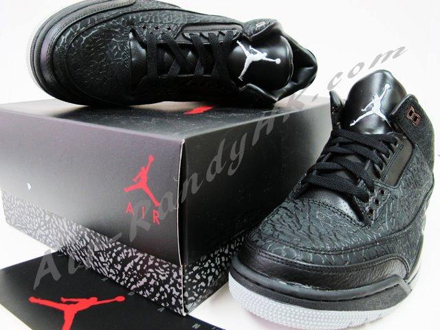 Air Jordan III (3) Black Flip