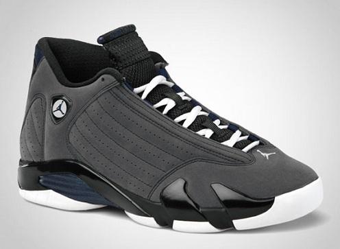 Air Jordan XIV (14) Light Graphite/Midnight Navy-Black-White - Official Jordan Brand Images