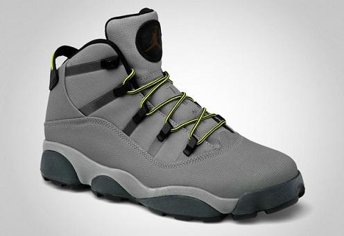 Jordan 6 Rings Winterized - Light Charcoal/High Voltage - City Grey - Blue