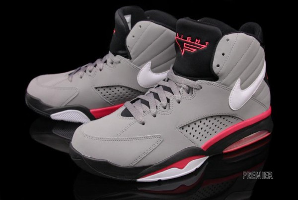 Nike Air Maestro Flight - Grey/White-Black-Solar Red - Now Available