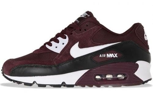 burgundy air max