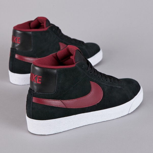 Nike SB Blazer High - Black/Team Red - Now Available