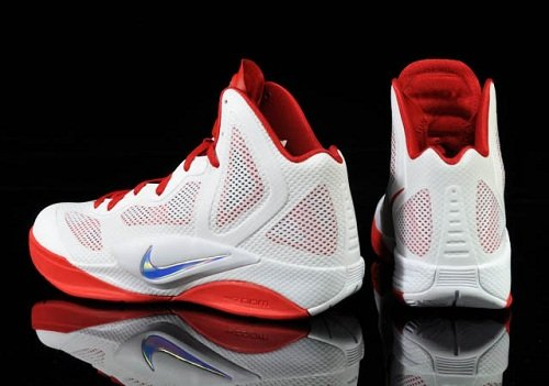 Nike Zoom Hyperfuse 2011 - White/Metallic Luster-Sport Red