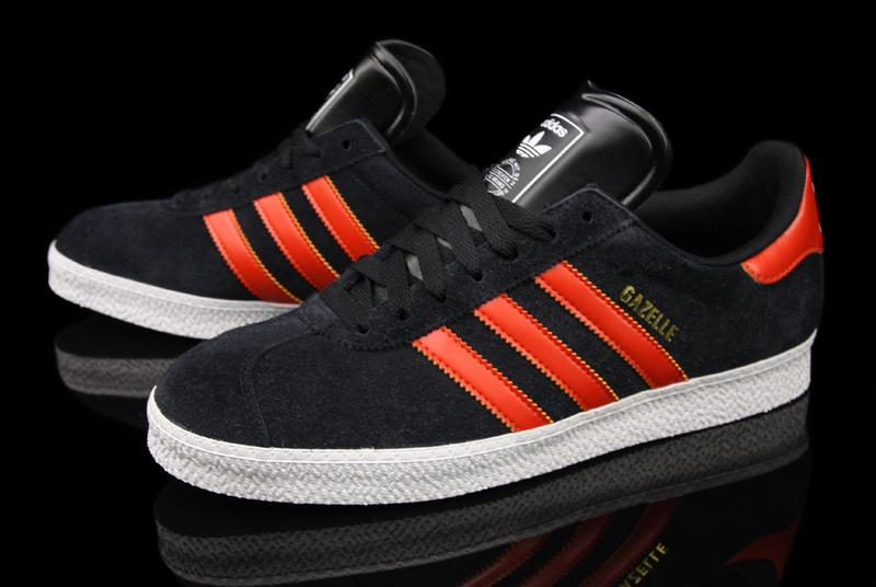 Adidas Gazelle 2 Black Sharp Orange White Now