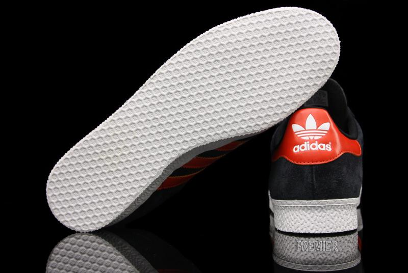 Mens Black & White Adidas Gazelle Trainers schuh