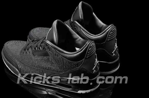 Air Jordan III (3) Black Flip Another Look