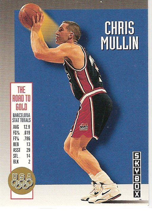 Chris Mullin Skybox Card 1992 Olympic Dream Team