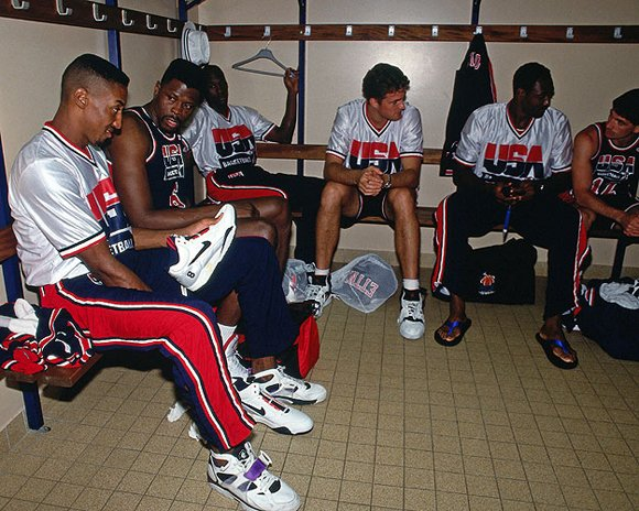 Christian Laettner Locker Room 1992 Dream Team