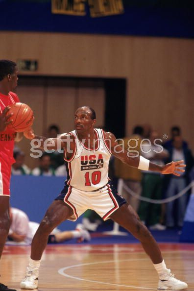 Clyde Drexler on Defense 1992 Dream Team Olympic