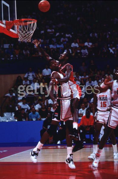 David Robinson Defending the rim 1992 Olympic Dream Team