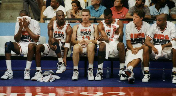 David Robinson and 1992 Dream Team Squad