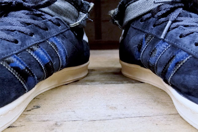 adidas campus on feet