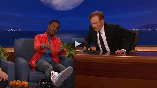 Kid Cudi wears Nike Air Mag on Conan O'Brien