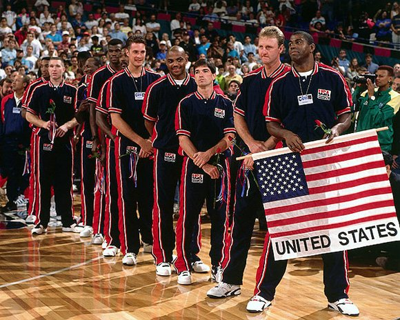 Larry Bird 1992 Dream Team Opening Ceremony