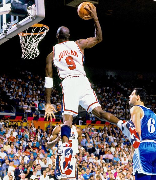 Michael Jordan Dunking 1992 Dream Team Olympic