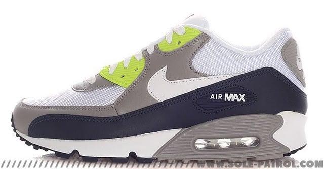 nike-air-max-90-whitegreynavy-volt-1