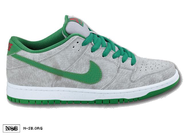 wholesale dealer 2dd29 1004e good Nike SB Dunk Low Matte Silver Green Summer 2012