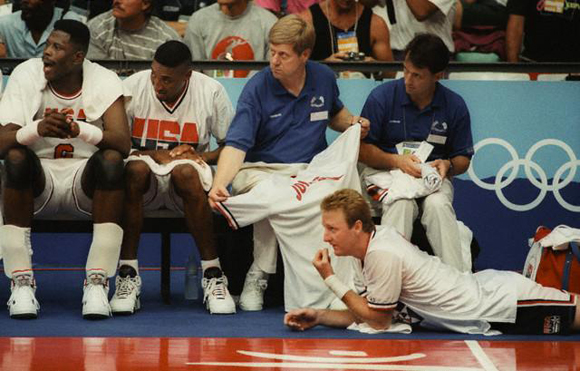 Patrick Ewing Hyping his 1992 Olympic Team up
