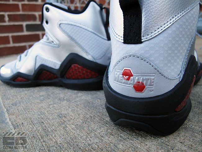 Reebok Kamikaze III Mid - Silver/Excellent Red